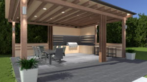 Outside lounge area - 3D Architectural Visualisation
