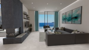 3D Architectural Visualisation - Living rooms with Seaview
