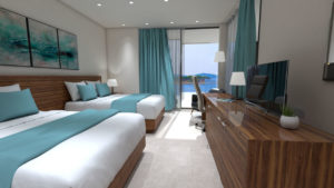 Bedrooms with Seaview - 3D Architectural Visualisation